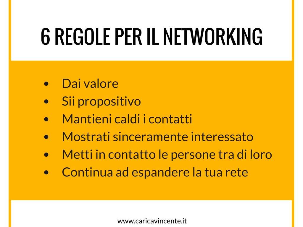 6 regole per fare networking