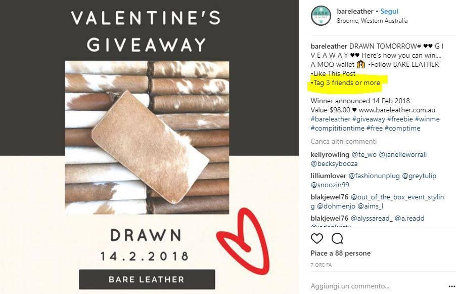 esempi di contest instagram