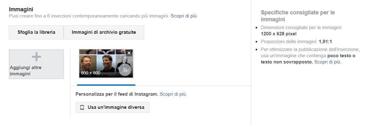 sponsorizzare instagram