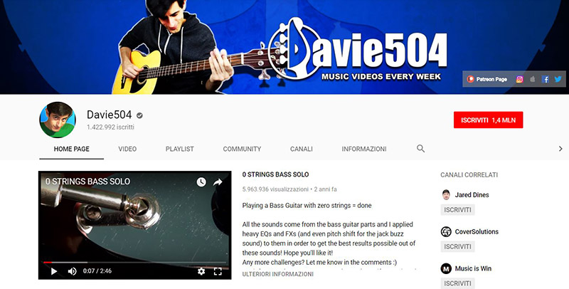 davie504 patreon youtube