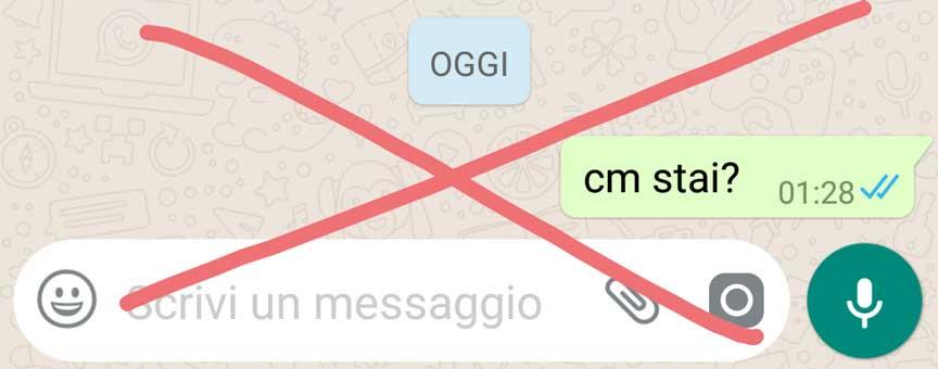 abbreviazioni in chat