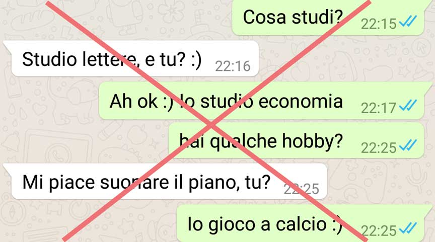 Dating galateo dopo la prima data
