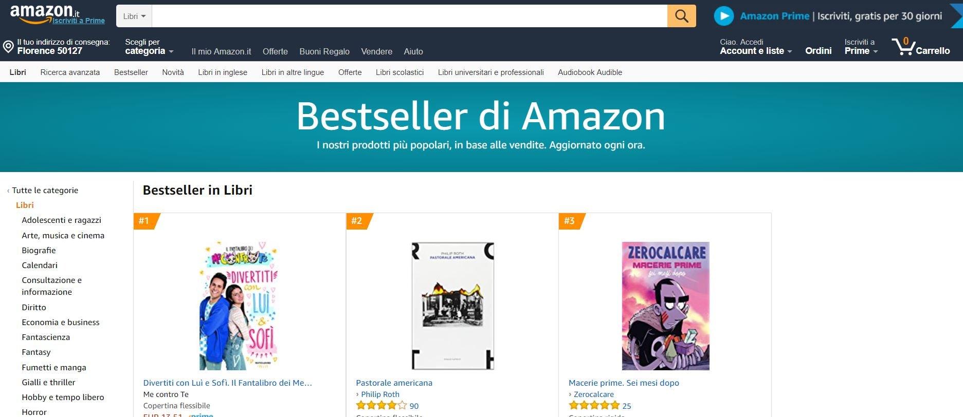 comprare libri online amazon