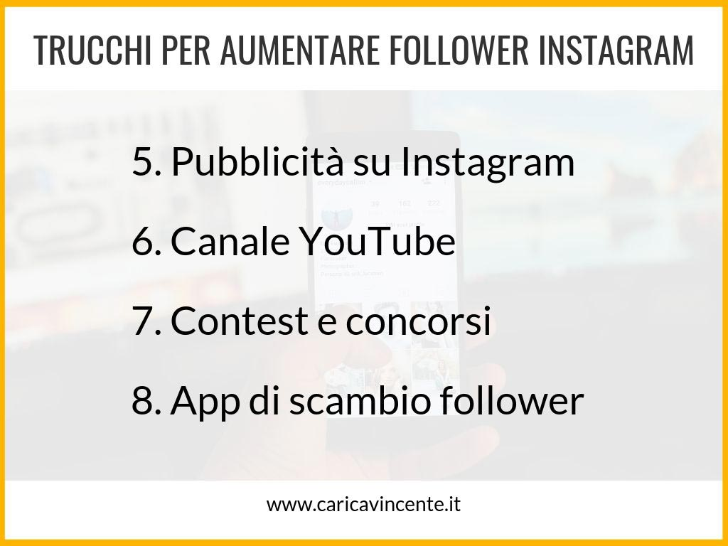 come incrementare follower instagram