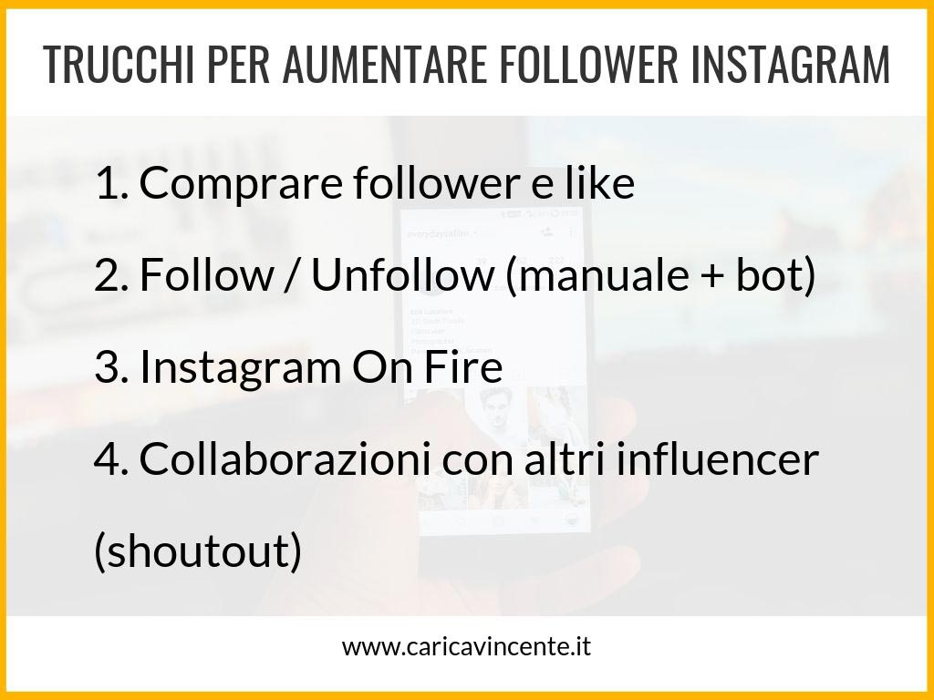 strategie per aumentare i follower di instagram