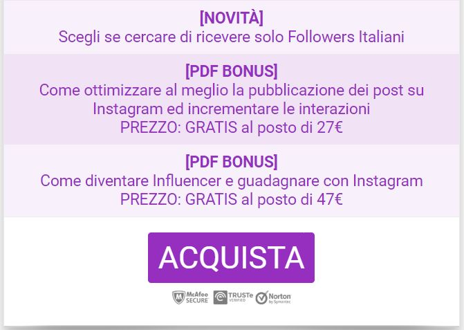 pacchetto mensile instagrow