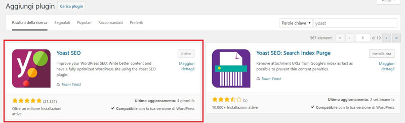yoast seo creare un blog con wordpress