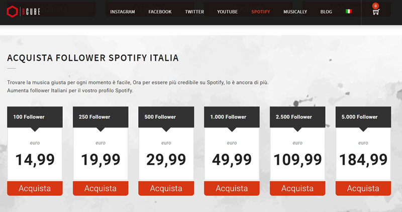 comprare follower spotify