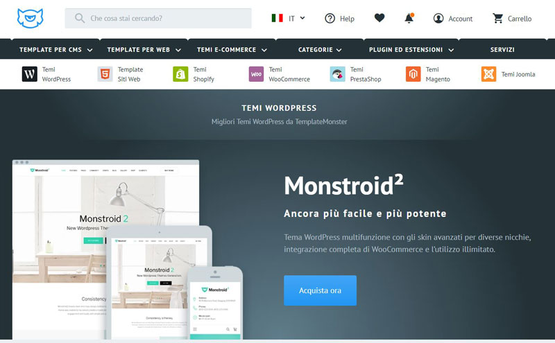 temi wordpress templatemonster