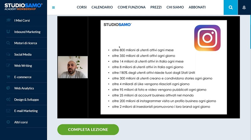 instagram marketing corso