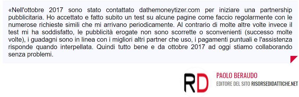 recensioni the moneytizer