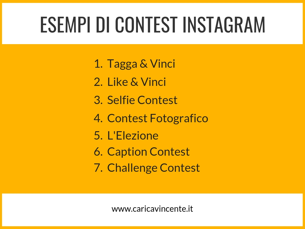 contest instagram concorsi