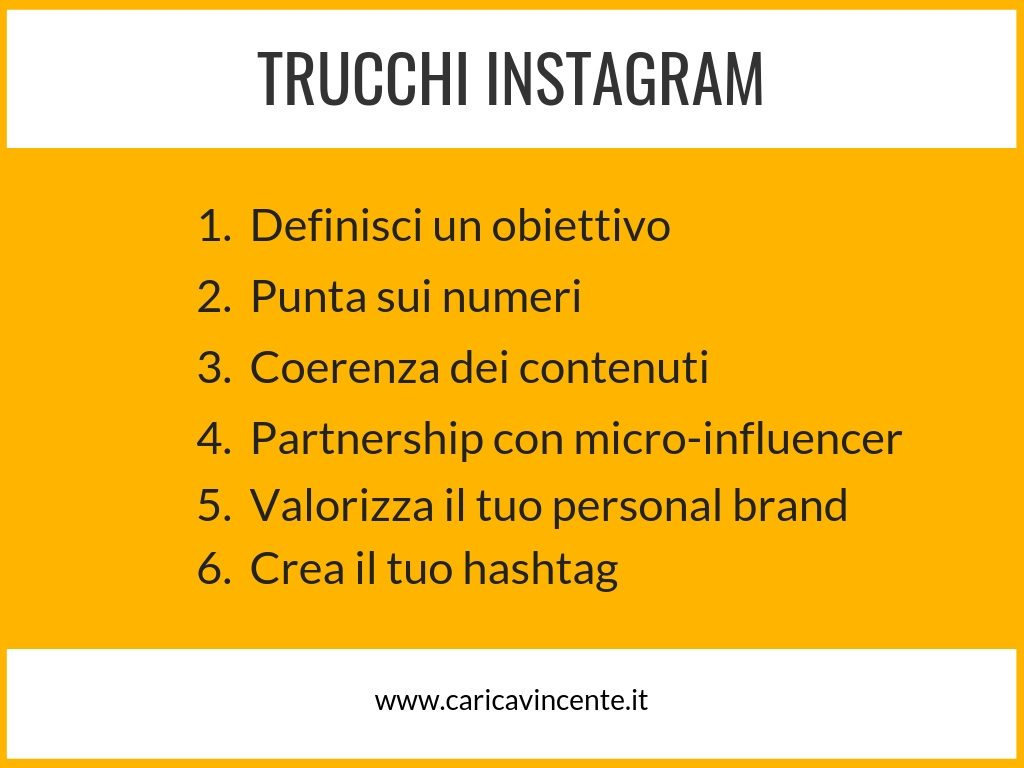 trucchi instagram follower like