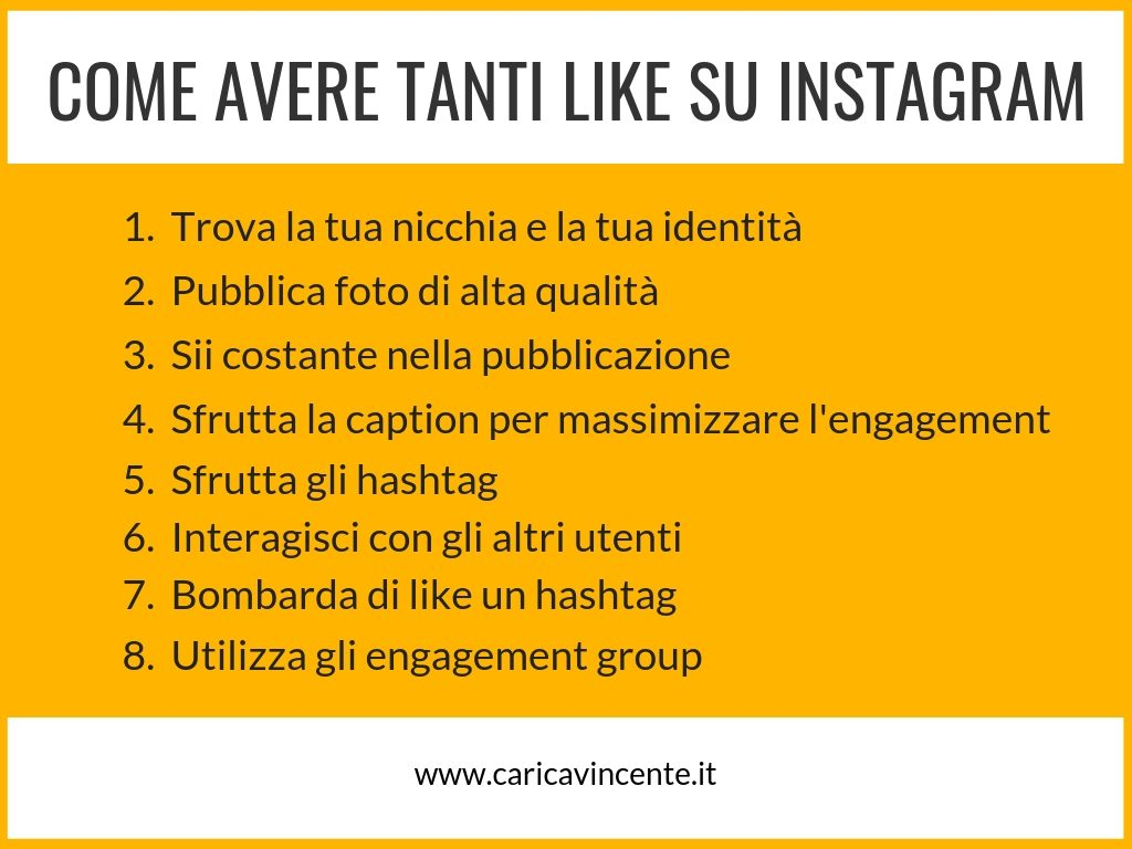 come avere tanti like su instagram
