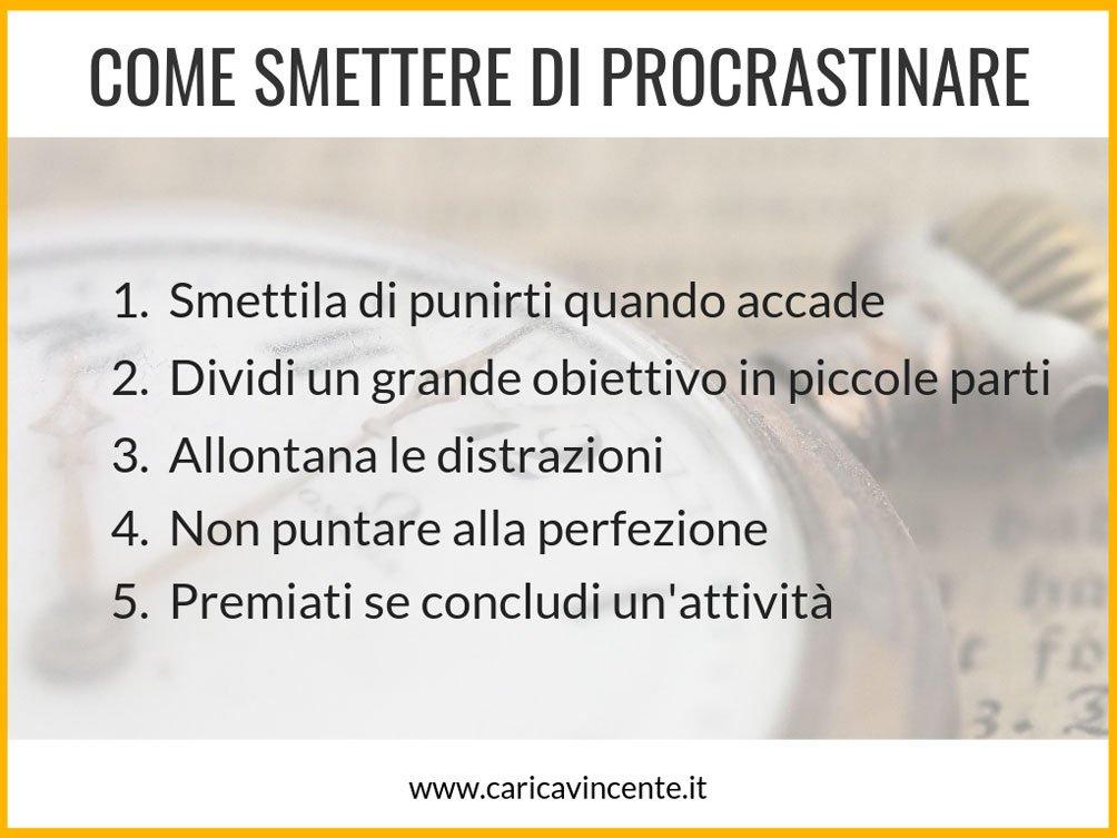 smettere di procrastinare psicologia