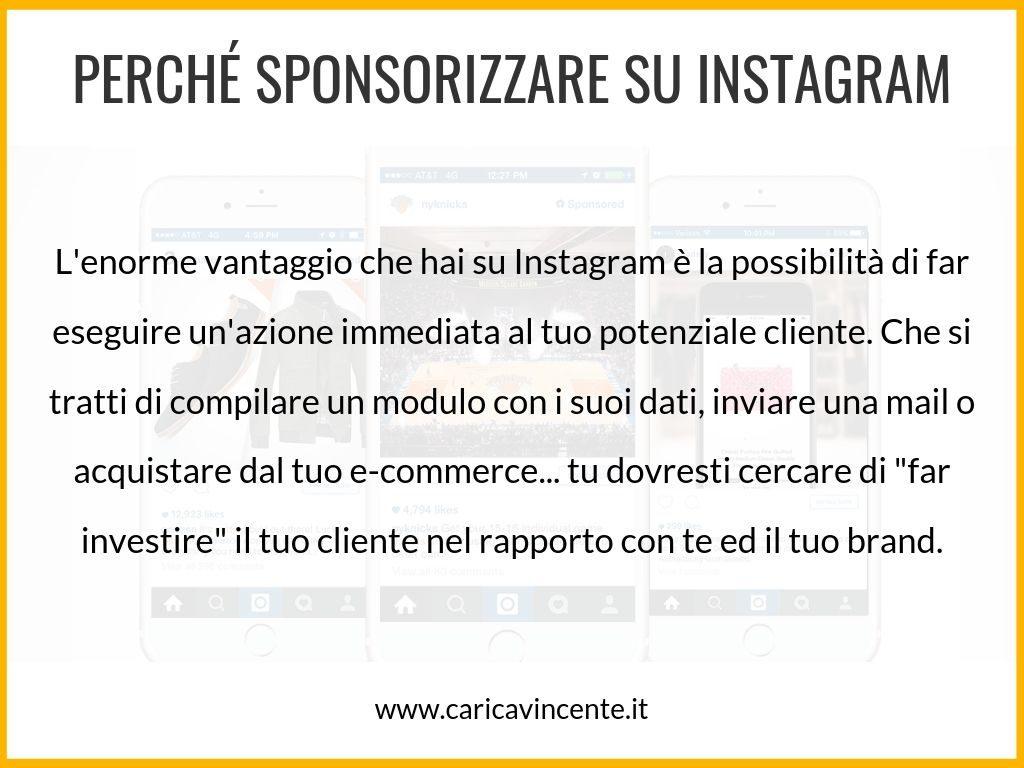 come sponsorizzare prodotti su instagram