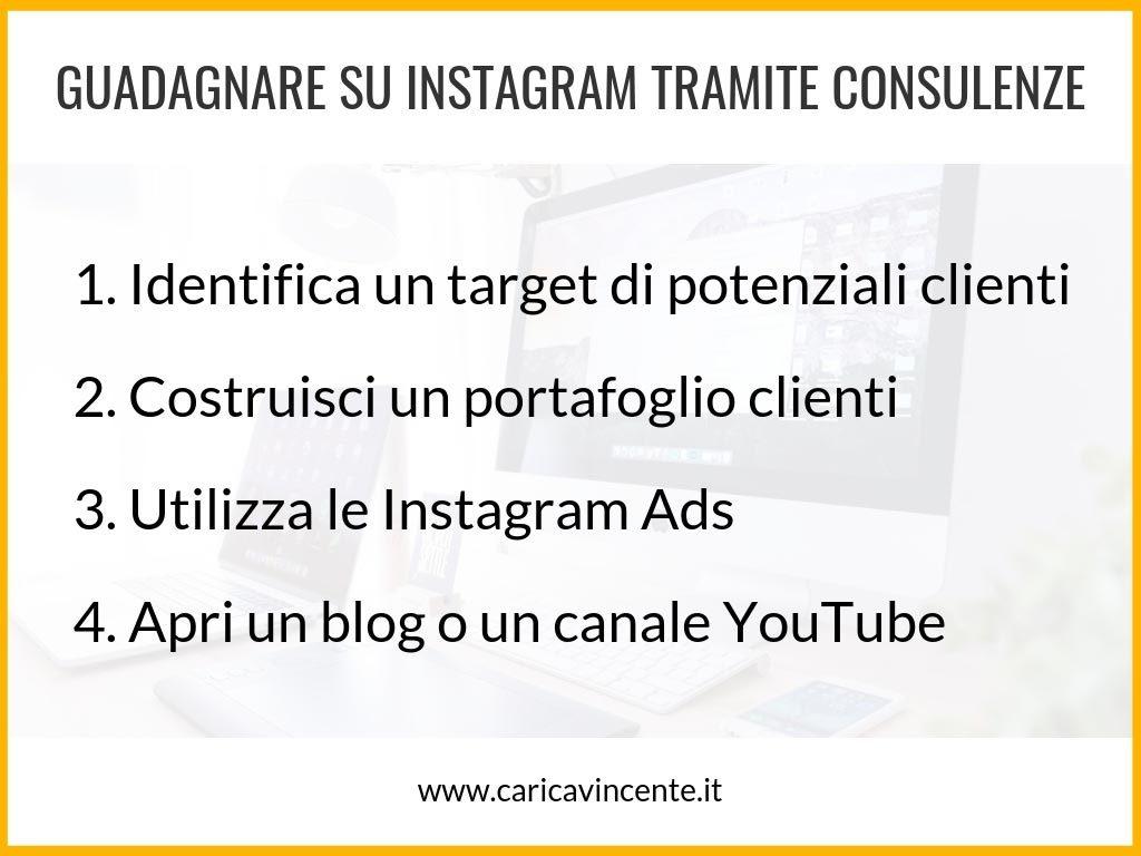 guadagnare su instagram consulenze