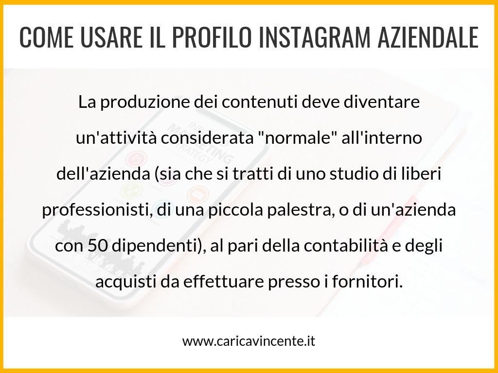 pagina instagram aziendale