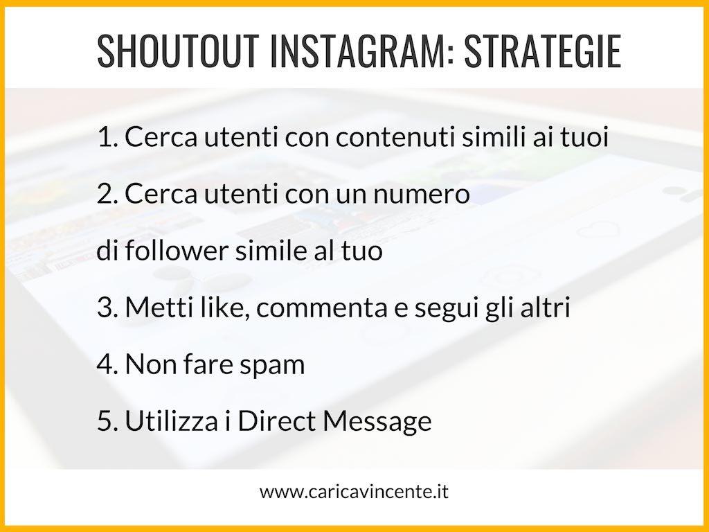 shoutout instagram strategie