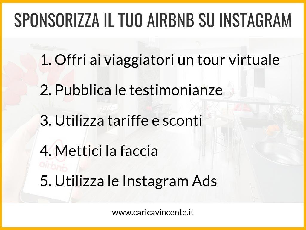 sponsorizzare airbnb con instagram