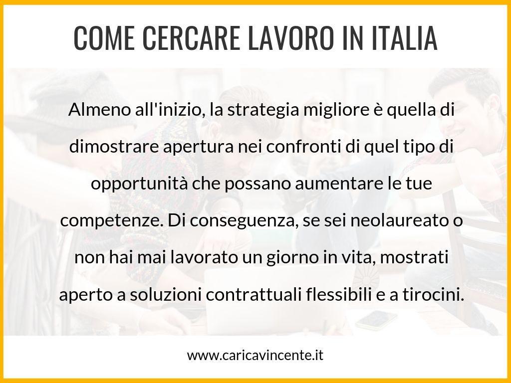 come cercare lavoro in italia