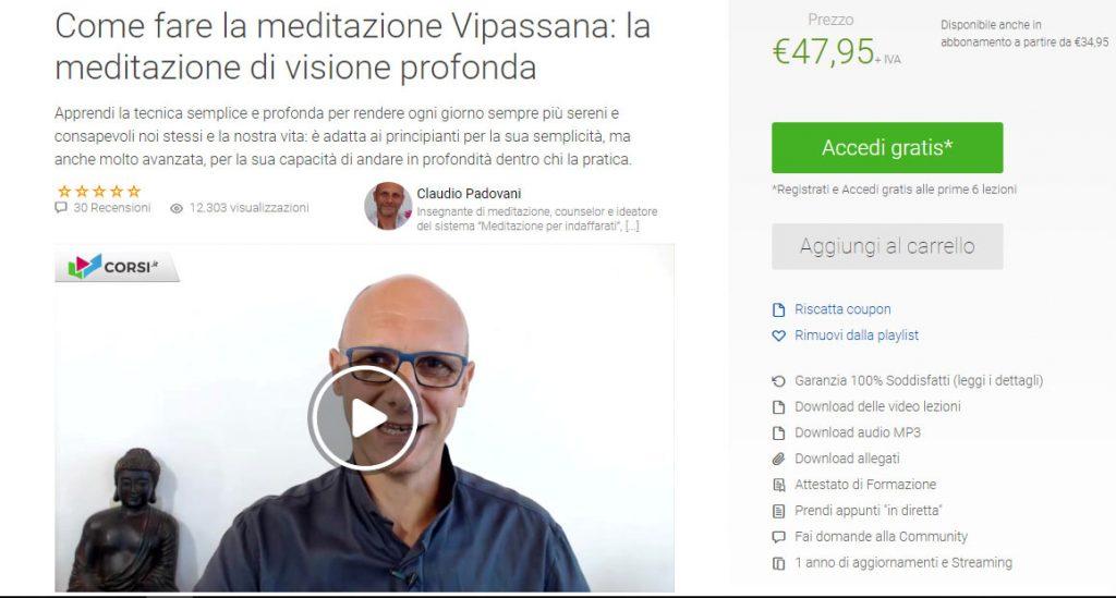 corsi di meditazione online