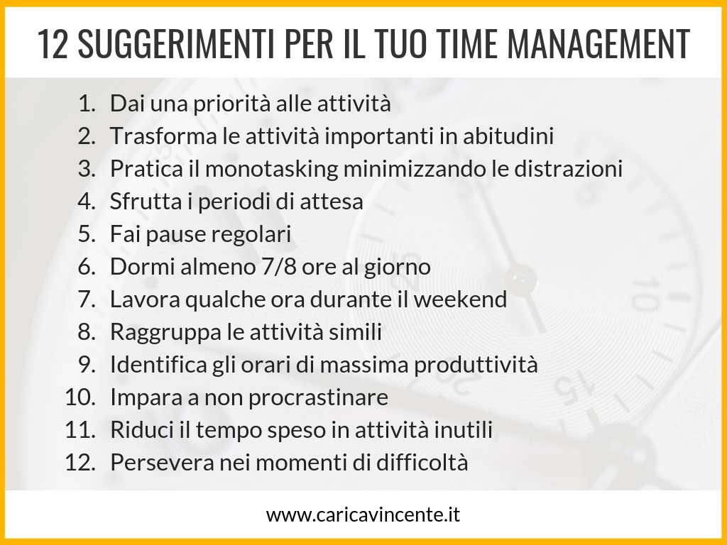 time management consigli